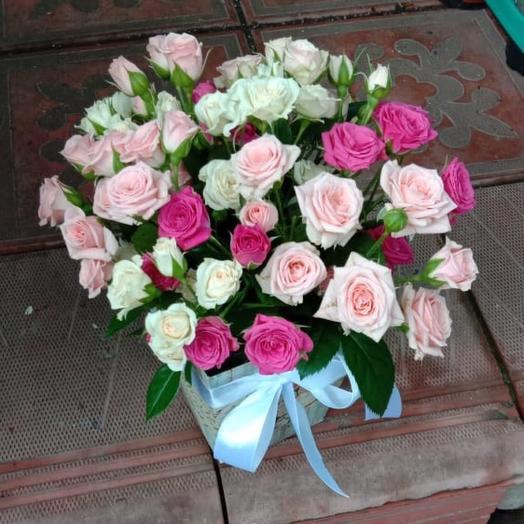 Роза в коробке «Монпансье»