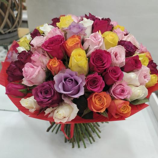 букет из 51 розы