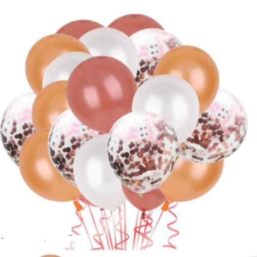 Цветные латексные шары воздушные шары с конфетти Осенний