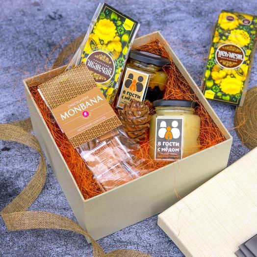 """Подарочная коробка 35 (Открытка """"23 февраля"""")"""