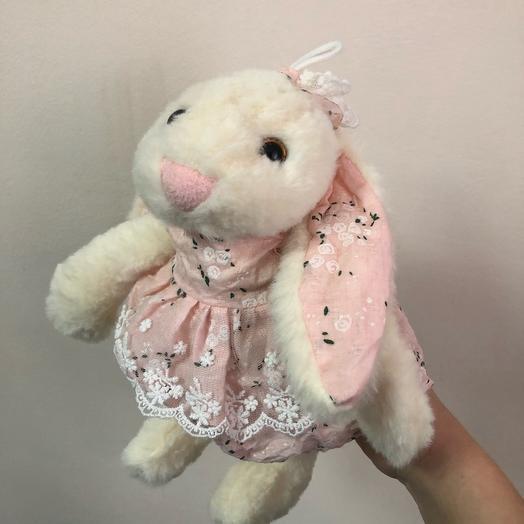 Игрушка Зайка в розовом платьице