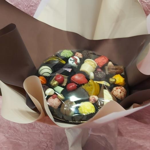 Букет из конфет ручной работы FRENCH KISS SPB 200213.2