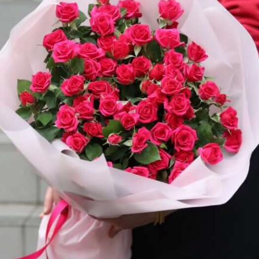 Букет из 7 веточек роз