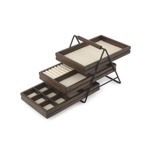 Шкатулка для украшений terrace орех  Umbra 1004037-048