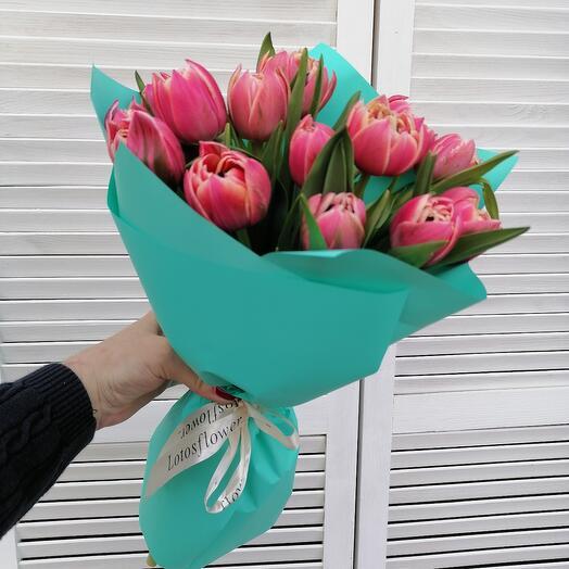 15 пионовидных тюльпанов 🥰