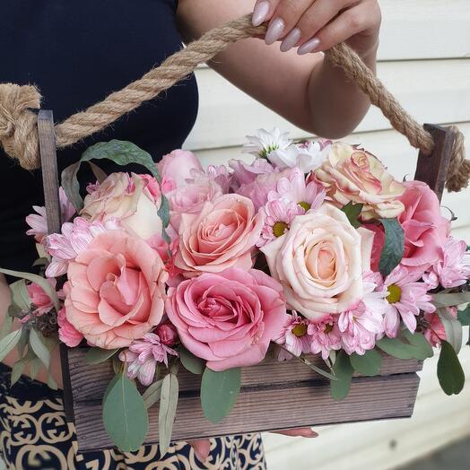 Ящик 15 роз