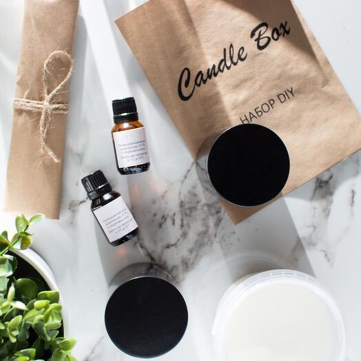 ( Горячий хлеб, Кокос ) НАБОР DIY/ Полный набор для изготовления свечей ( 2 свечи )/ Подарочный набор, Candle box