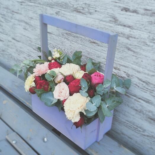 """Цветы в коробке """"Утренняя Венеция"""""""