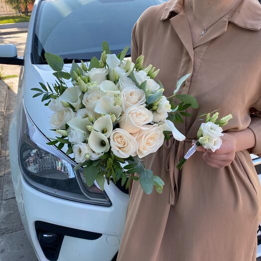 Букет невесты с каллами