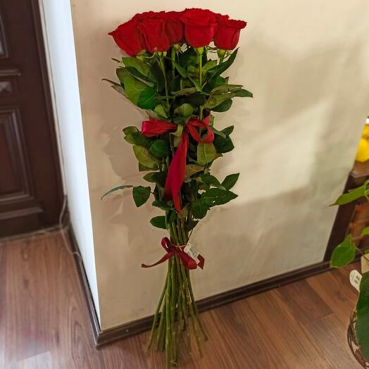 Букет из 15 роз, 100 см