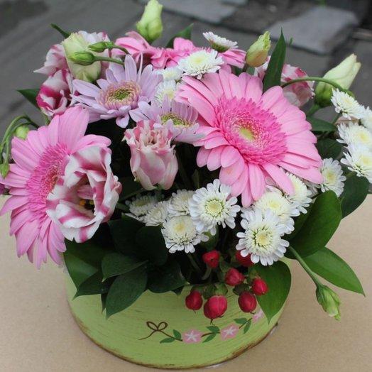 Цветочная коробка Явный знак: букеты цветов на заказ Flowwow