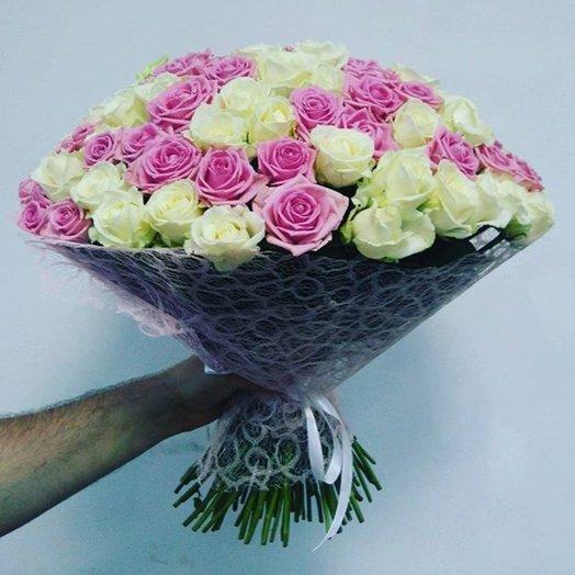 Букет Бело-розовый: букеты цветов на заказ Flowwow