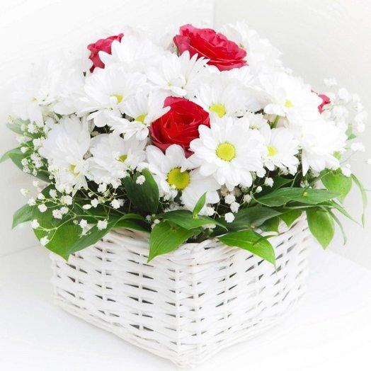 Композиция Нежный комплимент: букеты цветов на заказ Flowwow