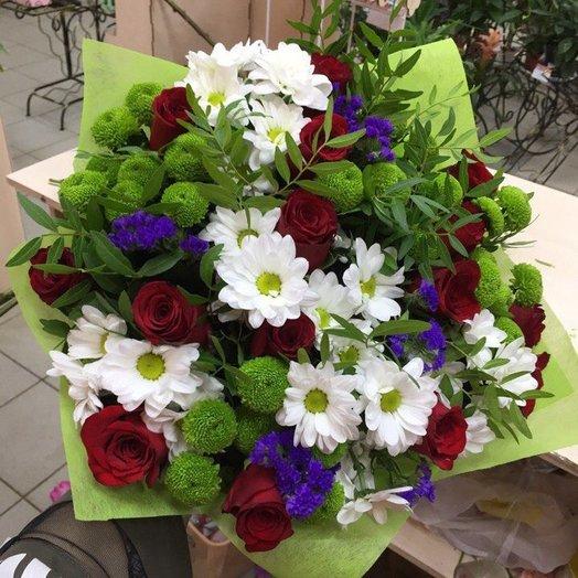 Яркие штрихи: букеты цветов на заказ Flowwow