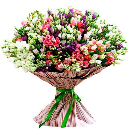 Букет из 51 эустомы : букеты цветов на заказ Flowwow