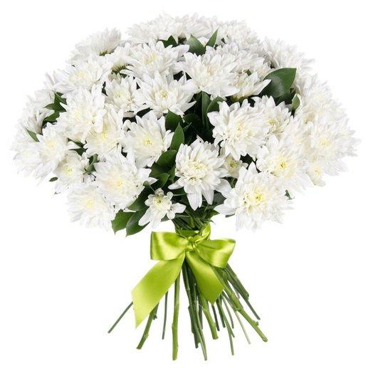 """Букет """" 15 белых хризантем"""""""