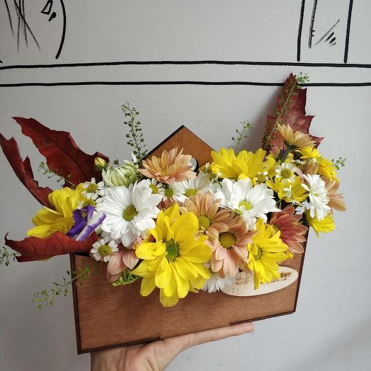 Осеннее письмо: букеты цветов на заказ Flowwow