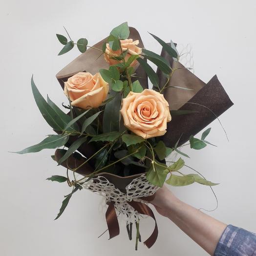 Букет в кремово коричневых тонах: букеты цветов на заказ Flowwow