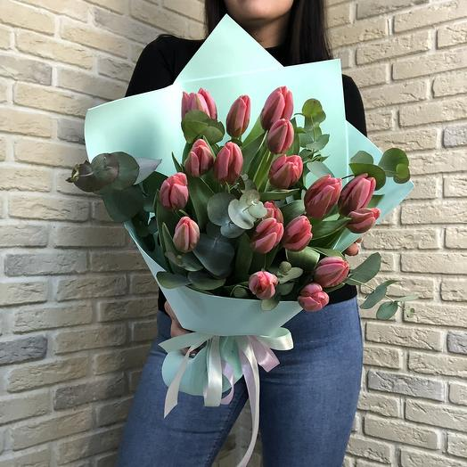 Тюльпаны в стиле Тиффани: букеты цветов на заказ Flowwow
