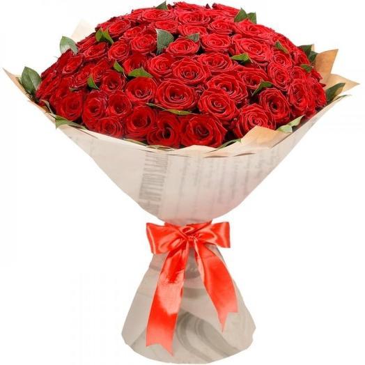 """Букет из 101 розы """"Сочный десерт"""": букеты цветов на заказ Flowwow"""