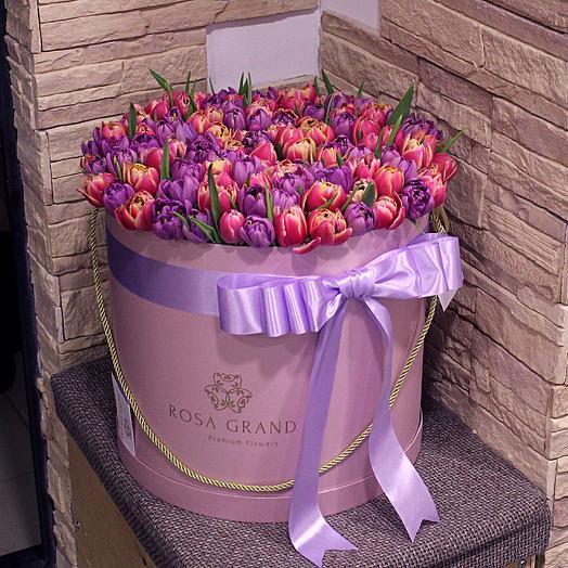 До 149 голландских пионовидных тюльпана: букеты цветов на заказ Flowwow