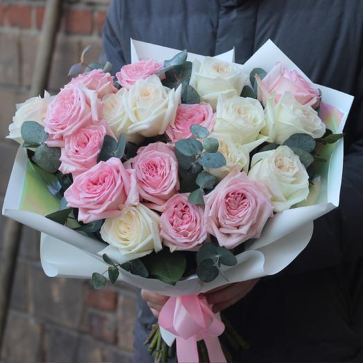 Французские розы: букеты цветов на заказ Flowwow