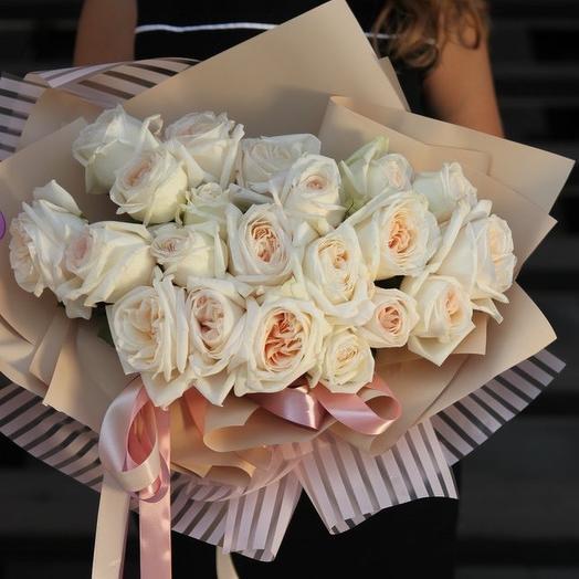 25 Ароматных роз Вайт Охара: букеты цветов на заказ Flowwow