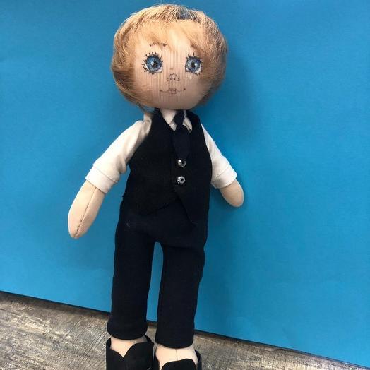 Кукла-школьник ручной работы