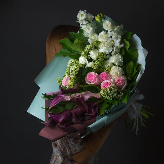 "Букет ""Фиолетово-Зеленый"": букеты цветов на заказ Flowwow"