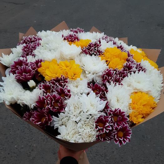 Шикарный микс из хризантем
