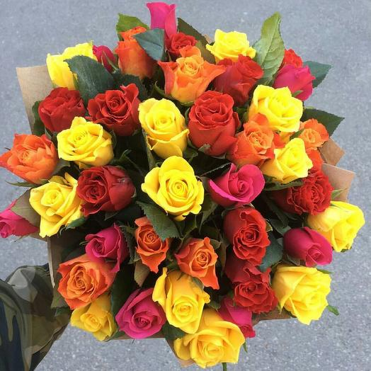 Букет из 35 мини роз