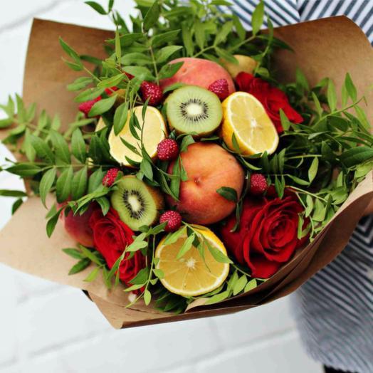 """Букет из фруктов """"Фисташковый"""": букеты цветов на заказ Flowwow"""