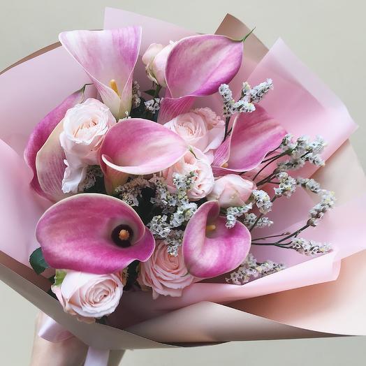 Букетик с каллами: букеты цветов на заказ Flowwow