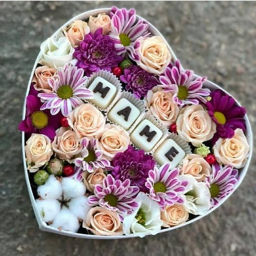 Мамочке сердечно: букеты цветов на заказ Flowwow