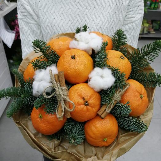 A bouquet of mandarins: flowers to order Flowwow