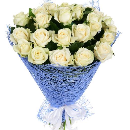 Букет из 39 белых роз: букеты цветов на заказ Flowwow