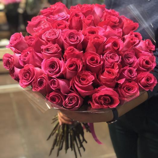 51 роза премиум 50 см