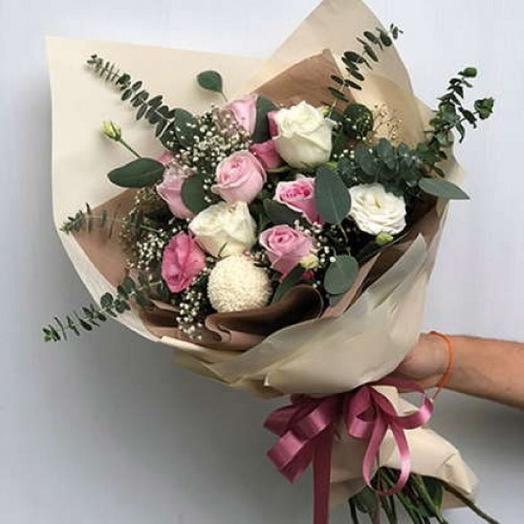 """БУКЕТ НА ДЕНЬ ВЛЮБЛЕННЫХ """"НЕЖНОСТЬ ЛЮБВИ"""": букеты цветов на заказ Flowwow"""