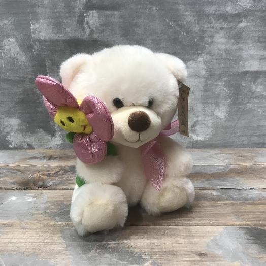 Игрушка «Мишка с цветочком»: букеты цветов на заказ Flowwow