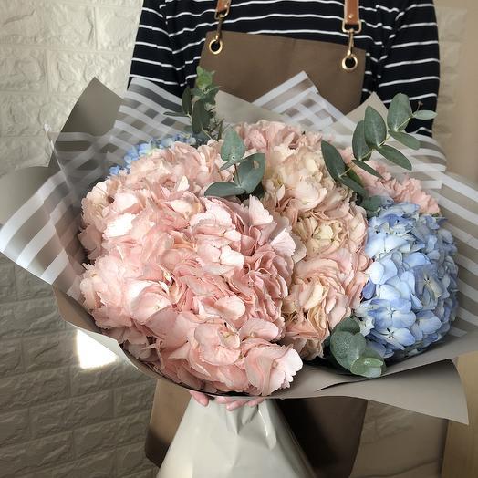Букет гортензий: букеты цветов на заказ Flowwow