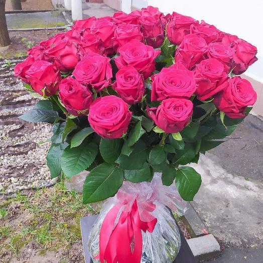 Ароматные бордовые розы 15 шт😍