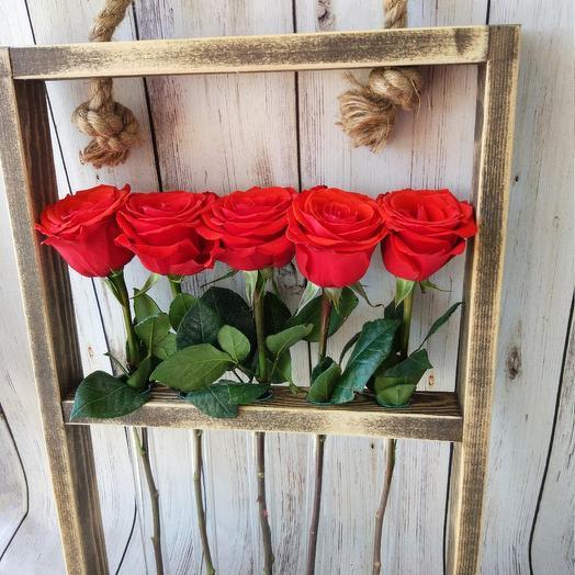 Эковаза подвесная с розами