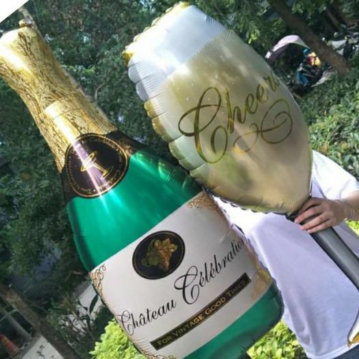 Набор шампанское и бокал