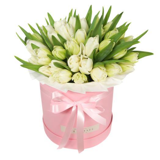 Тюльпаны в круглой коробке