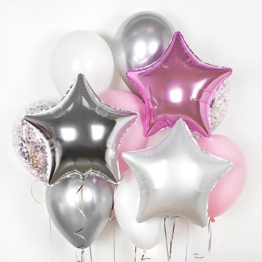 Набор шаров «Розовое сияние»