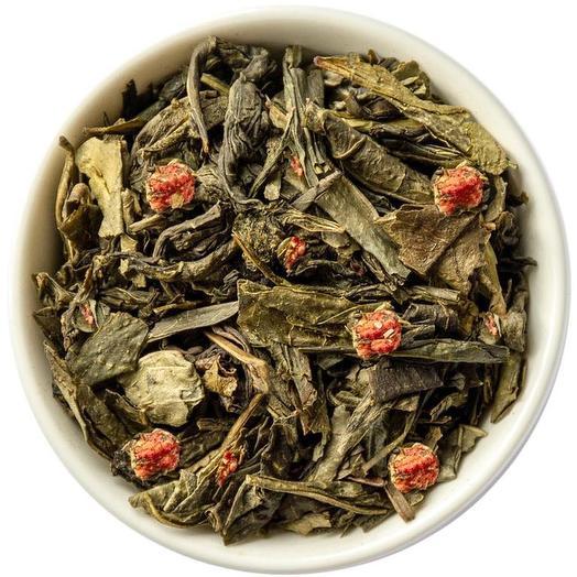 Зеленый чай с земляникой - Земляника со сливками