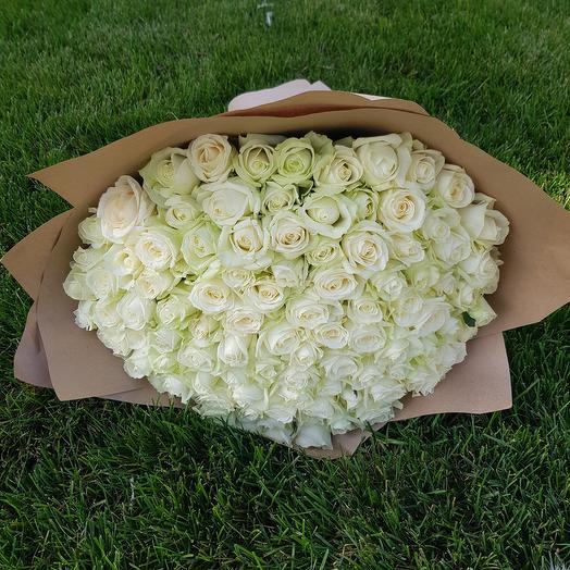 Букет из белые роза