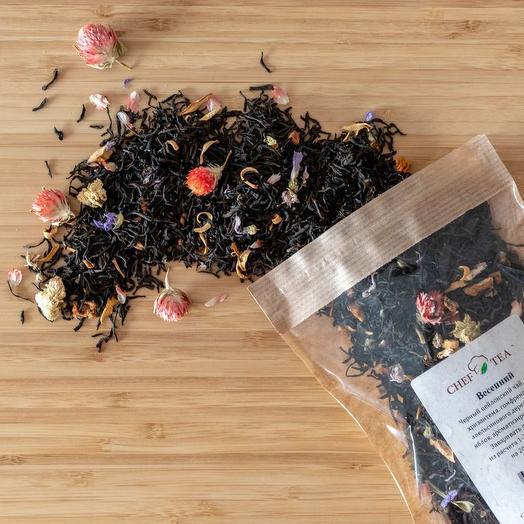 Манговый чай с лепестками цветов - Весенний