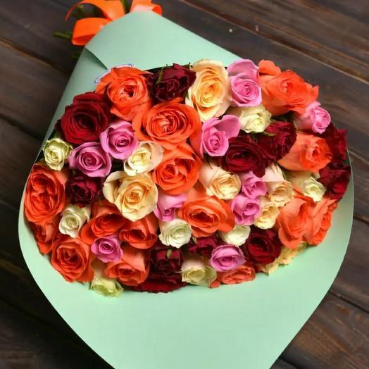 Букет 55 роз