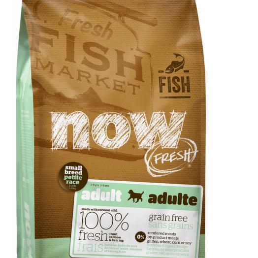 NOW FRESH беззерновой сухой корм для собак мелких пород с форелью, лососем и овощами 11,3 кг